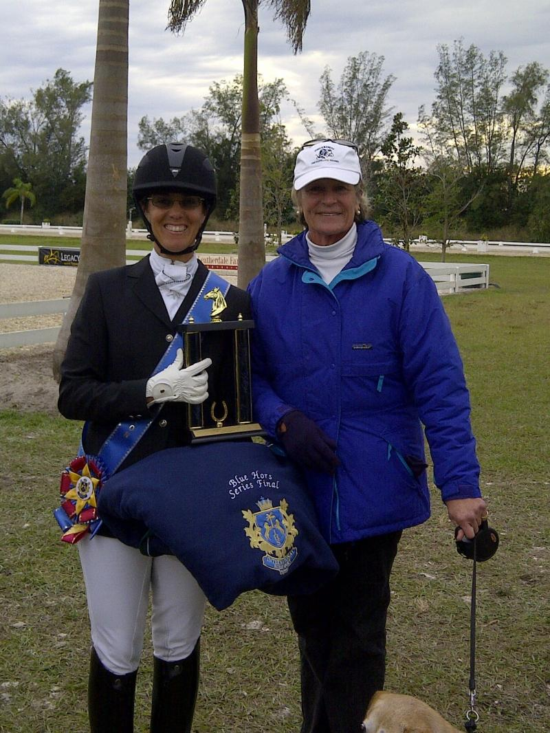 BLUE HORS CHAMPION WITH ALLYN SCHIAVONE, Coach