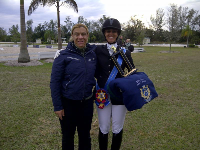 BLUE HORS CHAMPION WITH MY SISTER ROSINA